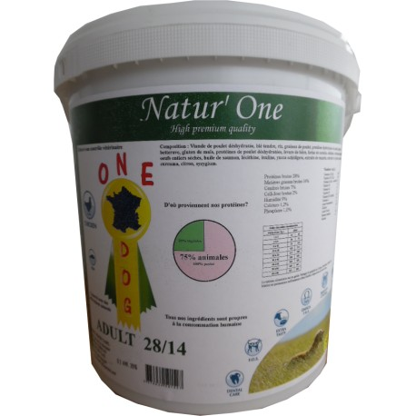 one dog adult 28/14 natur'one 5kg